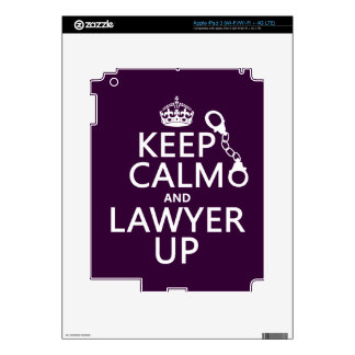 Keep Calm and Lawyer Up (any color) iPad 3 Skin