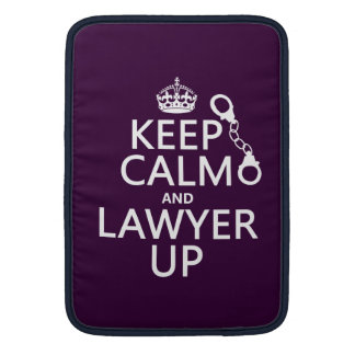 Keep Calm and Lawyer Up (any color) MacBook Air Sleeve
