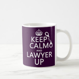 Keep Calm and Lawyer Up (any color) Classic White Coffee Mug