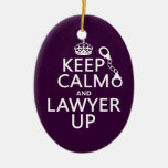 Keep Calm and Lawyer Up (any color) Christmas Ornaments