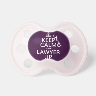 Keep Calm and Lawyer Up (any color) Pacifier