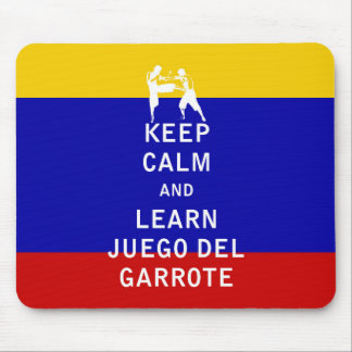 Keep Calm and Learn Juego del Garrote Mouse Pad