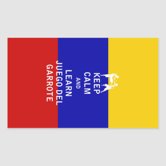 Keep Calm and Learn Juego del Garrote Rectangular Sticker