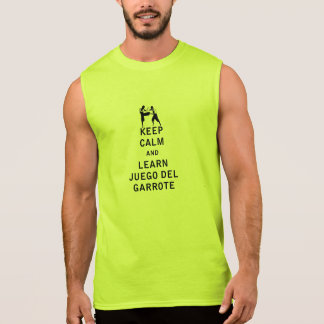Keep Calm and Learn Juego del Garrote Sleeveless Shirt