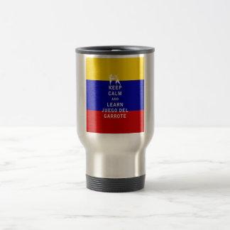 Keep Calm and Learn Juego del Garrote Travel Mug