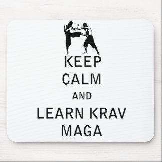 Keep Calm and Learn Krav Maga Mouse Pad