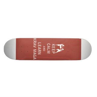 Keep Calm and Learn Krav Maga Skateboard