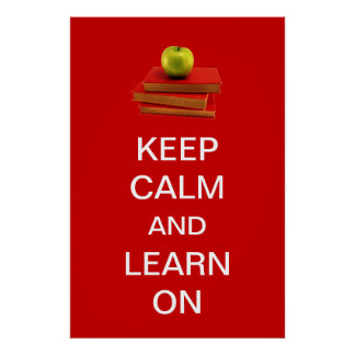 Keep Calm and Learn On Poster