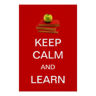 Keep Calm and Learn Poster