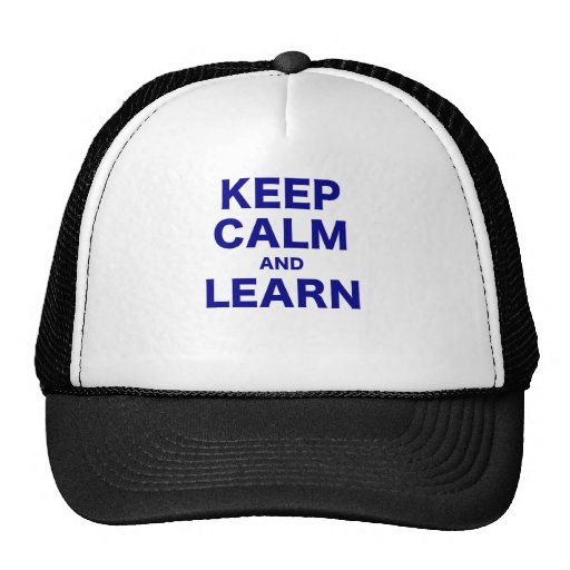 Keep Calm and Learn Trucker Hat