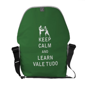 Keep Calm and Learn Vale Tudo Messenger Bags