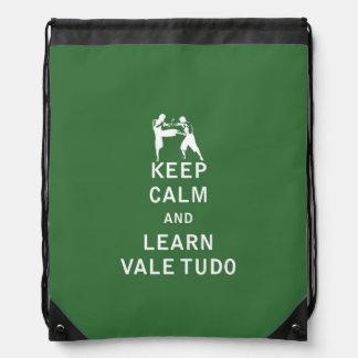 Keep Calm and Learn Vale Tudo Drawstring Bag