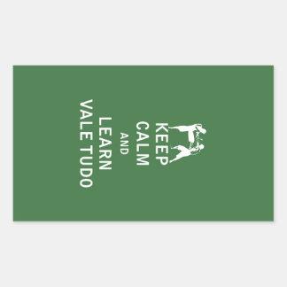 Keep Calm and Learn Vale Tudo Rectangular Sticker