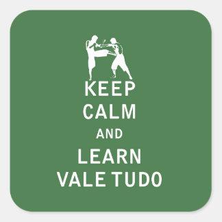 Keep Calm and Learn Vale Tudo Square Sticker