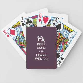 Keep Calm and Learn Wen-Do Bicycle Playing Cards