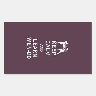 Keep Calm and Learn Wen-Do Rectangular Sticker