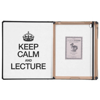 KEEP CALM AND LECTURE iPad COVER