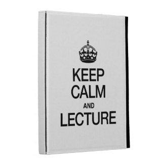 KEEP CALM AND LECTURE iPad FOLIO CASE