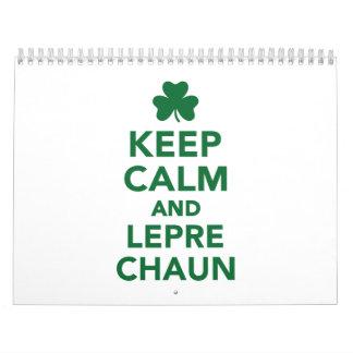 Keep calm and Leprechaun Calendar