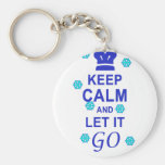 Keep calm and let it go keychain