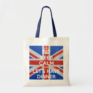 Keep Calm and Let's Have Dinner Tote Bag