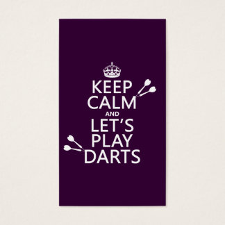 Keep Calm and Let's Play Darts Business Card