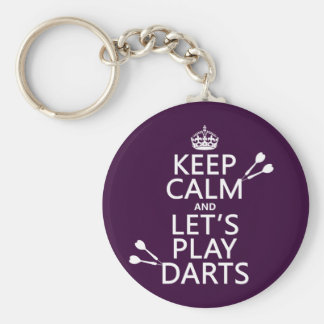 Keep Calm and Let's Play Darts Keychain