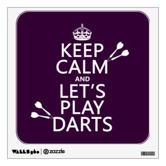 Keep Calm and Let's Play Darts Wall Decal