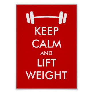 Keep calm and lift weight poster for weighlifters