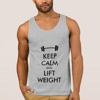 Keep calm and lift weight workout shirts