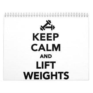 Keep calm and lift weights Bodybuilding Calendar