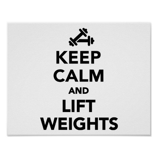 Keep calm and lift weights Bodybuilding Posters