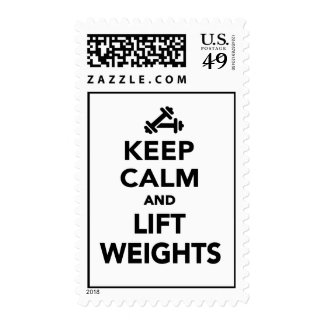 Keep calm and lift weights Bodybuilding Stamp