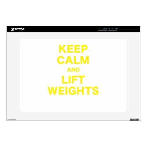 Keep Calm and Lift Weights Skin For Laptop