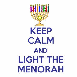 Keep Calm and Light the Menorah Cutout