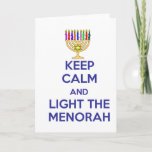 """Keep Calm and Light the Menorah Holiday Card<br><div class=""""desc"""">Light the Menorah this Chanukah.  Great gift for all your Jewish friends</div>"""