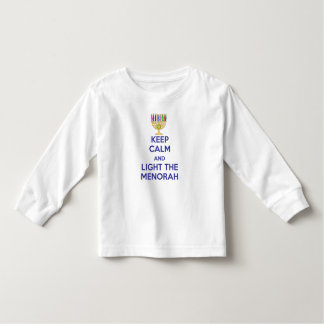 Keep Calm and Light the Menorah Toddler T-shirt