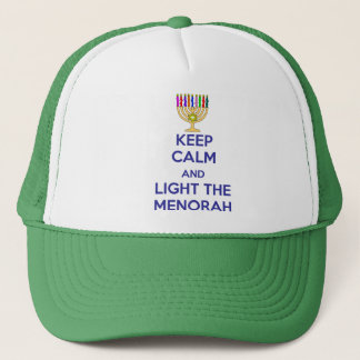 Keep Calm and Light the Menorah Trucker Hat