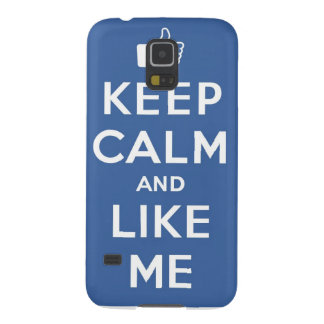 Keep Calm And Like Me Thumbs Up Carry On Galaxy S5 Covers