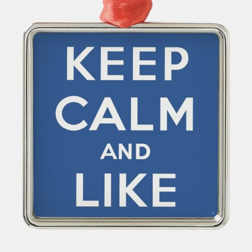 Keep Calm And Like Me Thumbs Up Carry On Metal Ornament