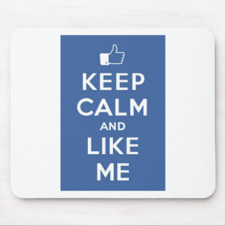 Keep Calm And Like Me Thumbs Up Carry On Mousepad