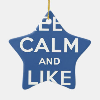 Keep Calm And Like Me Thumbs Up Carry On Christmas Tree Ornaments