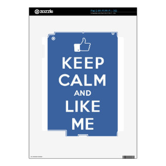 Keep Calm And Like Me Thumbs Up Carry On Skins For The iPad 2