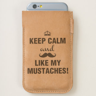 Keep Calm and like my mustaches funny quote iPhone 6/6S Case