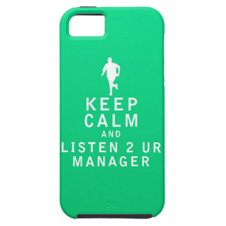Keep Calm and Listen 2 UR Manager iPhone 5 Covers