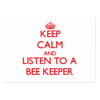Keep Calm and Listen to a Bee Keeper Business Card Templates