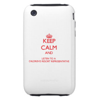 Keep Calm and Listen to a Children's Resort Repres Tough iPhone 3 Covers