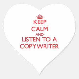 Keep Calm and Listen to a Copywriter Sticker