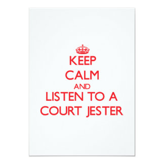 Keep Calm and Listen to a Court Jester 5x7 Paper Invitation Card