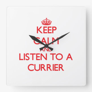 Keep Calm and Listen to a Currier Square Wallclocks